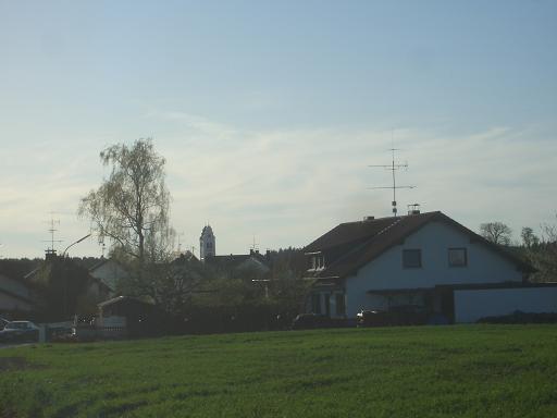 Dorf zwischen München und Augsburg
