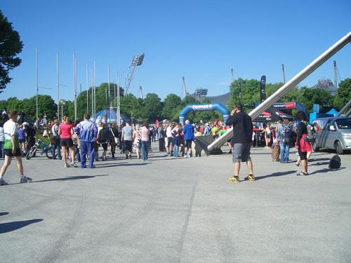 Start und Ziel beim Münchner Halbmarathon