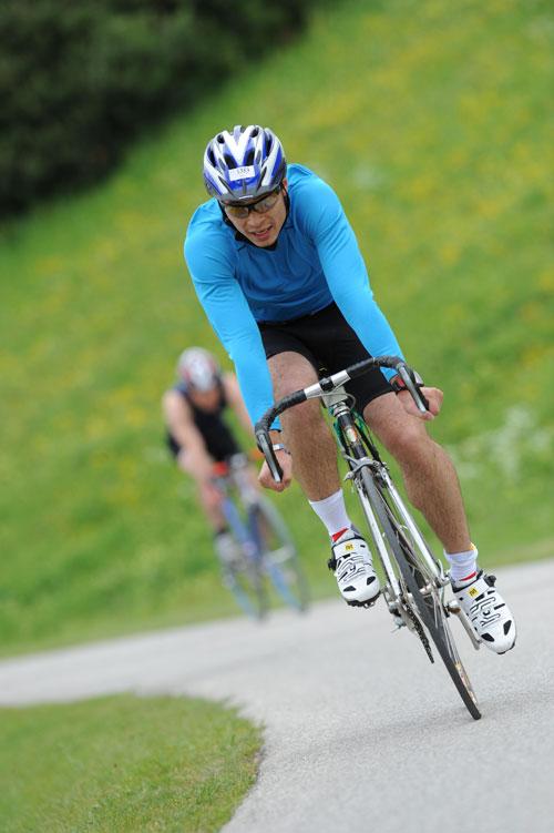 Radfahren beim 9. MRRC Triathlon