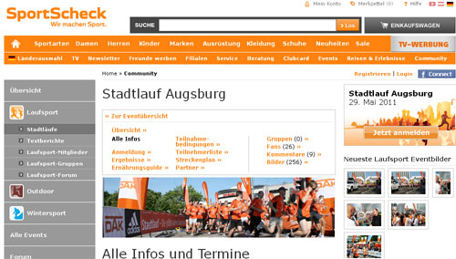 Halbmarathon am 29.05.11 in Augsburg