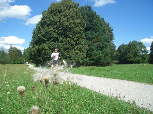 John Rüth beim Marathon Training im englischen Garten