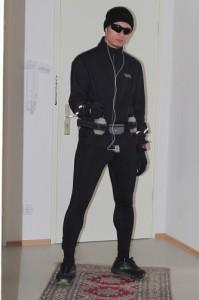 Beim Marathon in Bad Füssing lief ich mit drei Schichten Funktionskleidung