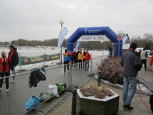 Start und Ziel beim Johannesbad Thermenmarathon