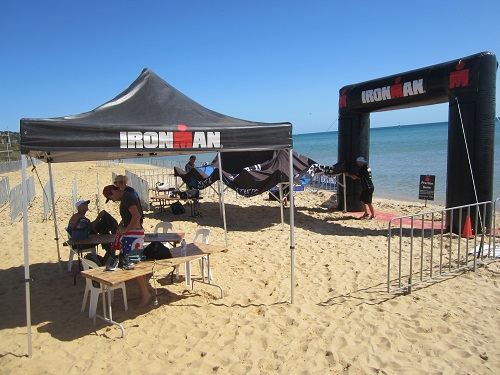 Ironman Melbourne swim in Frankston