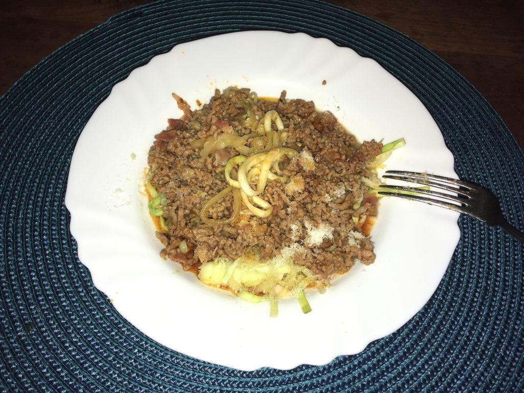 Zucchine Pasta Bolognese