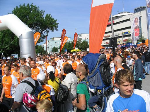 Start und Ziel beim Augsburger Stadtlauf