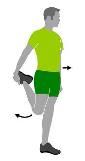 Oberschenkel dehnen nach dem Laufen