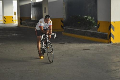 Radfahren in Aero-Position