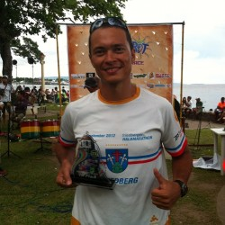 John Rueth, age-group winner Sandurot 113 Triathlon 2014